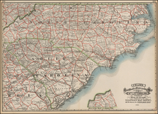 Southeast Map By George F. Cram