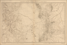 Southwest, New Mexico, Rocky Mountains and Colorado Map By F.V. Hayden