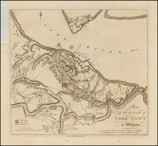 Mid-Atlantic and Southeast Map By Banastre Tarleton