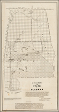 South and Alabama Map By General Land Office