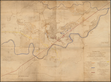 South and Tennessee Map By United States Bureau of Topographical Engineers / C.S. Mergell