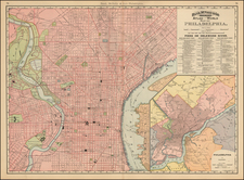 Mid-Atlantic and Pennsylvania Map By William Rand  &  Andrew McNally
