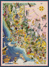 Pictorial Maps and California Map By Berta and Elmer Hader