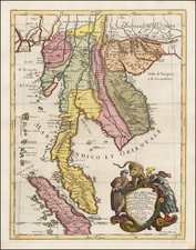 Southeast Asia, Singapore, Indonesia, Malaysia and Thailand Map By Giacomo Giovanni Rossi - Giacomo Cantelli da Vignola
