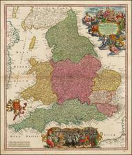England Map By Johann Baptist Homann