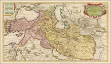 Central Asia & Caucasus, Middle East, Persia and Turkey & Asia Minor Map By Reiner & Joshua Ottens