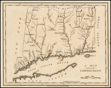 New England Map By John Stockdale