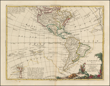 South America, Oceania, New Zealand and America Map By Antonio Zatta