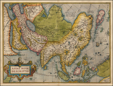 Asia, Asia and Oceania Map By Abraham Ortelius