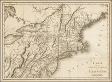New England and Mid-Atlantic Map By Michel Guillaume St. Jean De Crevecoeur