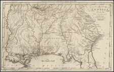 South and Southeast Map By Jedidiah Morse