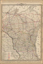 Midwest and Wisconsin Map By George F. Cram