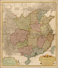 China and Central Asia & Caucasus Map By Jean André Dezauche / Jean-Baptiste Bourguignon d'Anville