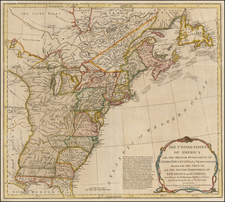 United States Map By Robert Sayer / John Bennett