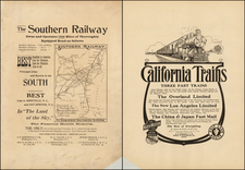 Southeast and California Map By George F. Cram