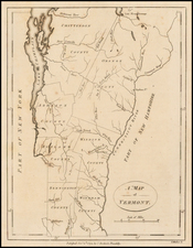 New England and Vermont Map By John Stockdale