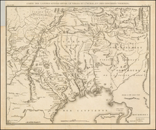 Russia and Russia in Asia Map By Pierre Antoine Tardieu