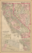 Nevada, California and Yosemite Map By O.W. Gray & Son