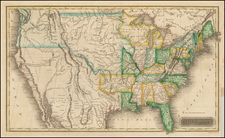 United States Map By Sidney Morse