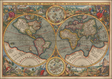 World and World Map By Petrus Kaerius