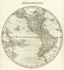 World, Western Hemisphere, South America and America Map By Charles Smith