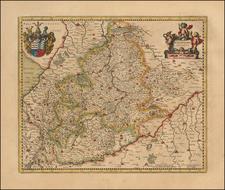 Germany Map By Henricus Hondius -  Gerard Mercator