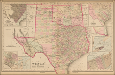 Texas and Plains Map By O.W. Gray