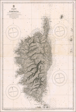 France and Corsica Map By British Admiralty