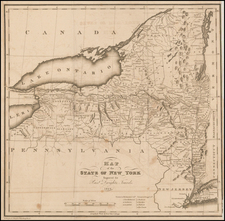 New York State Map By George Gillet