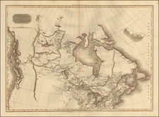 Polar Maps, Midwest, Alaska and Canada Map By John Pinkerton