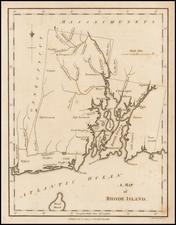Rhode Island Map By John Stockdale