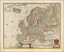 Europe and Europe Map By Nicolaes Visscher I
