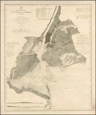 New York City and Mid-Atlantic Map By United States Coast Survey