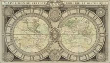 World, World and Celestial Maps Map By Louis Brion de la Tour