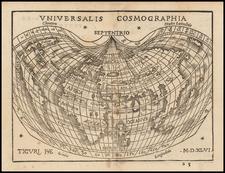 World and World Map By Johann Honter