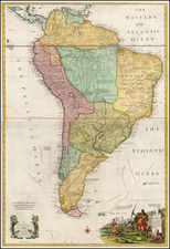 South America Map By John Senex  &  John Maxwell