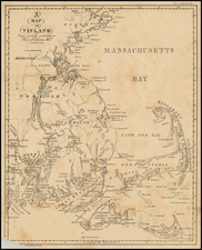 New England, Massachusetts and Canada Map By Anonymous