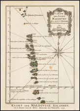 India and Other Islands Map By J.V. Schley