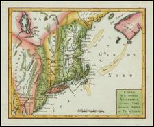 New England and Mid-Atlantic Map By Joseph De La Porte