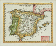 Spain and Portugal Map By Citoyen Berthelon
