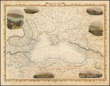 Ukraine, Turkey, Central Asia & Caucasus and Turkey & Asia Minor Map By John Rapkin