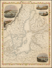 Poland, Russia, Baltic Countries, Scandinavia and Sweden Map By John Rapkin