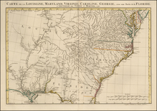 Mid-Atlantic, South, Southeast and Midwest Map By Johannes Covens  &  Cornelis Mortier