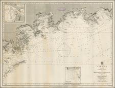 China and Hong Kong Map By British Admiralty