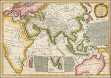 Indian Ocean, India, Southeast Asia and Australia Map By Thomas Kitchin