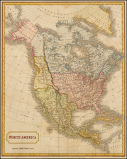 North America Map By Sidney Hall