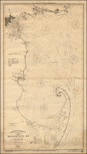 New England and Massachusetts Map By George Eldridge