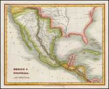 Texas, Southwest, Rocky Mountains, Mexico and California Map By John Dower