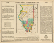 Midwest Map By Henry Charles Carey  &  Isaac Lea