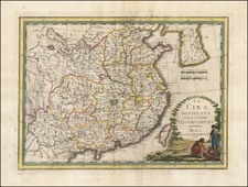 China and Korea Map By Giovanni Maria Cassini